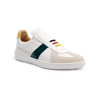 Women's Smooth Multicolored Leather Low Tops