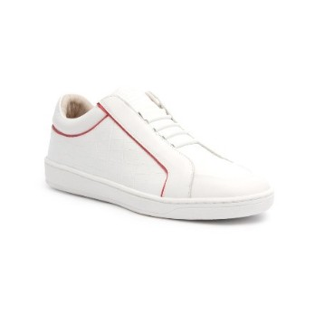 Women's Duke White Pink Leather Sneakers